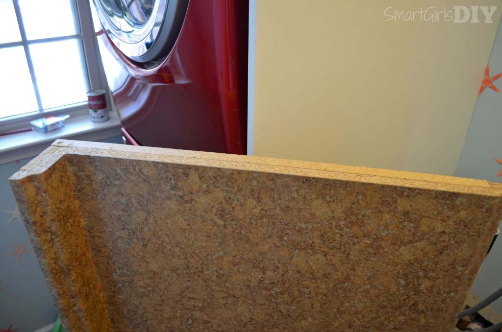 Edge of laminate counter top needs banding