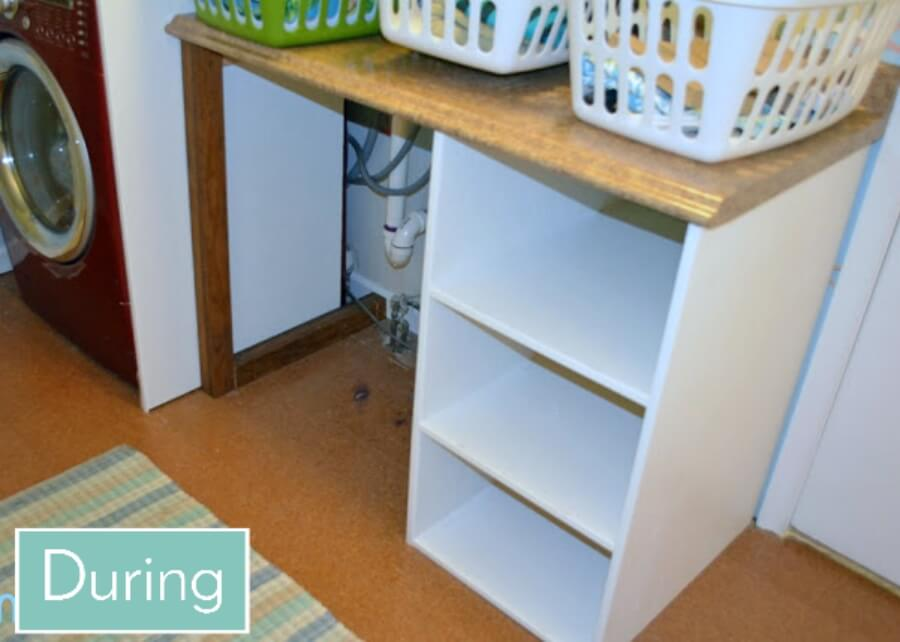 Smart Girls DIY Empty Laundry Basket Shelf