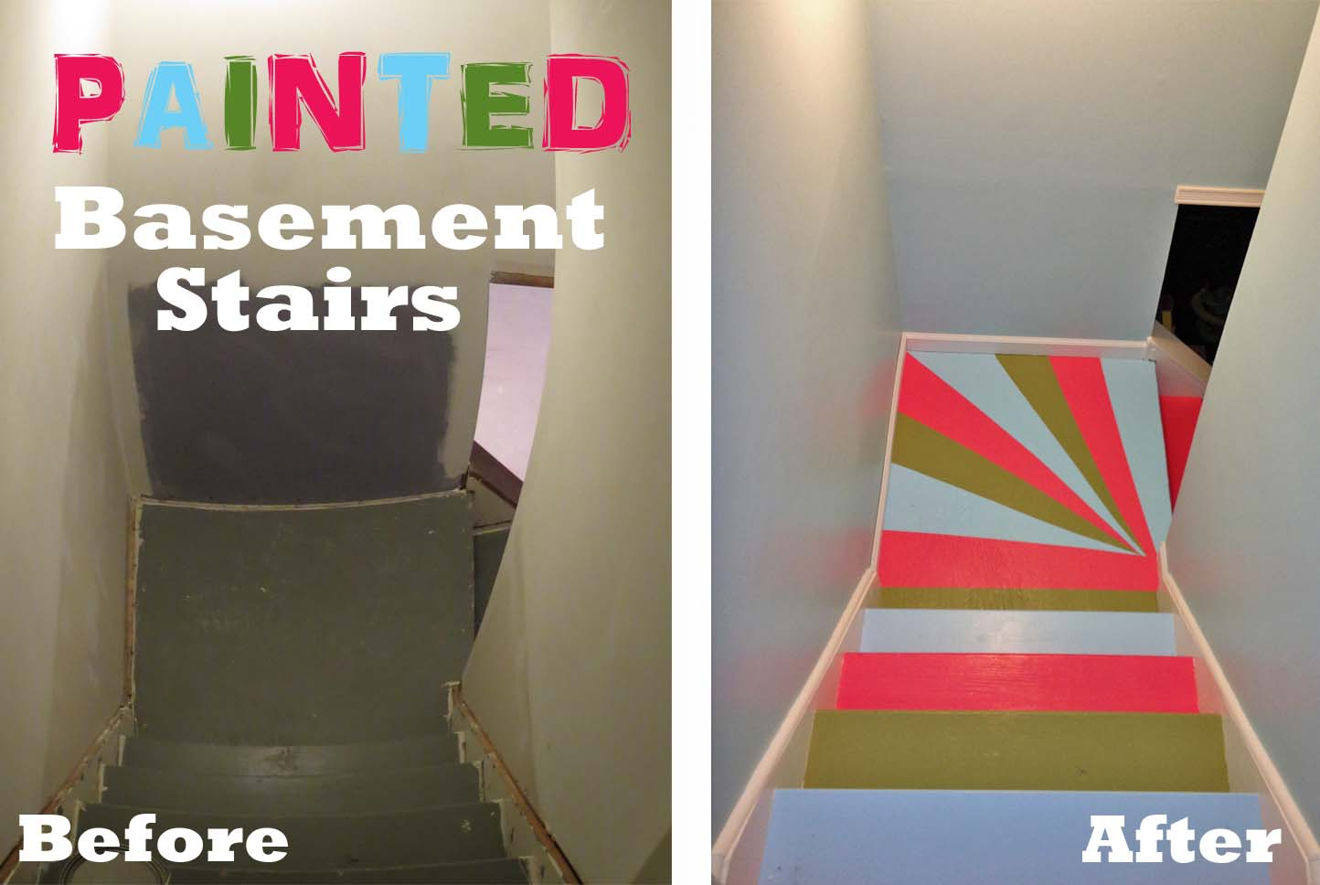 painted basement stairs. Painted Basement Stairs