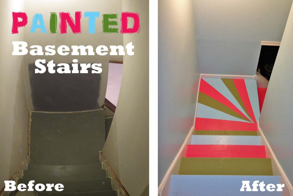 Painted Basement Stairs how to