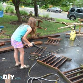 Prepping the Swing Set