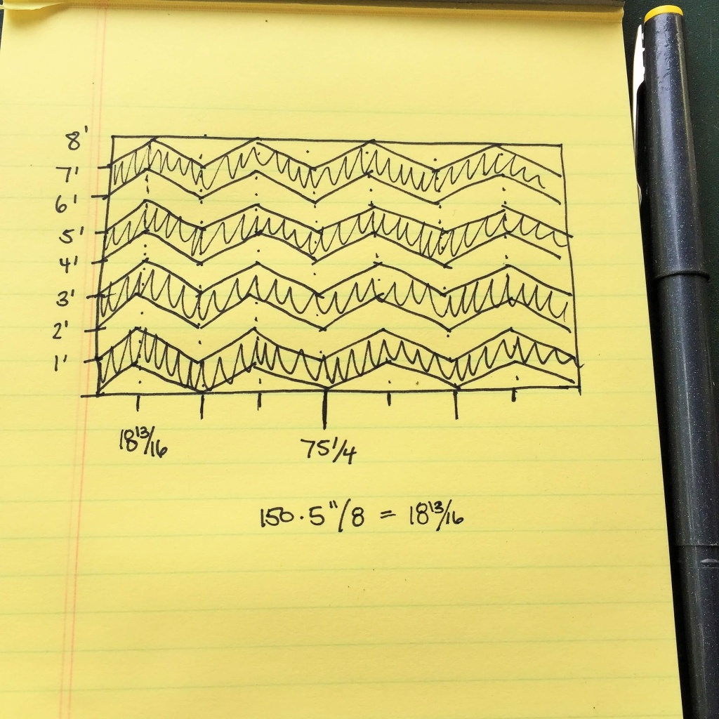 How to Measure for a Chevron Wall Design 3