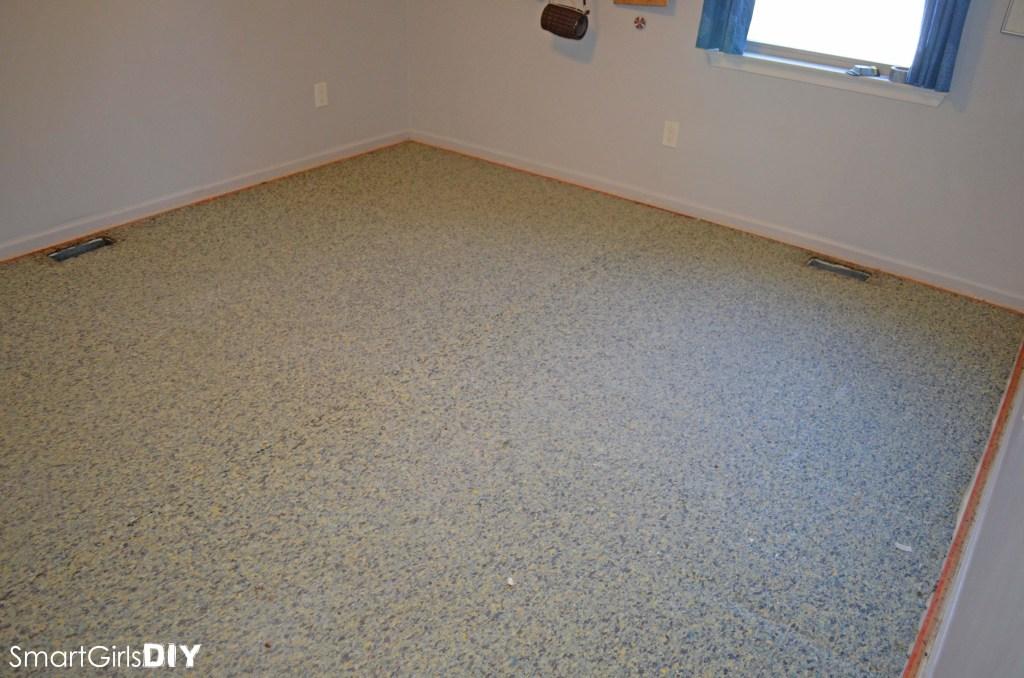 Next step is remove carpet pad