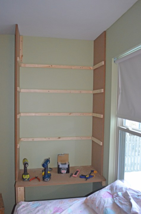 Shelf supports finished