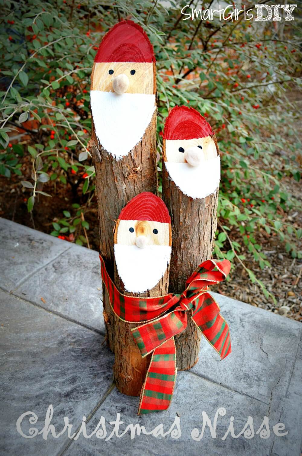 Danish nisse christmas craft santa logs solutioingenieria Choice Image