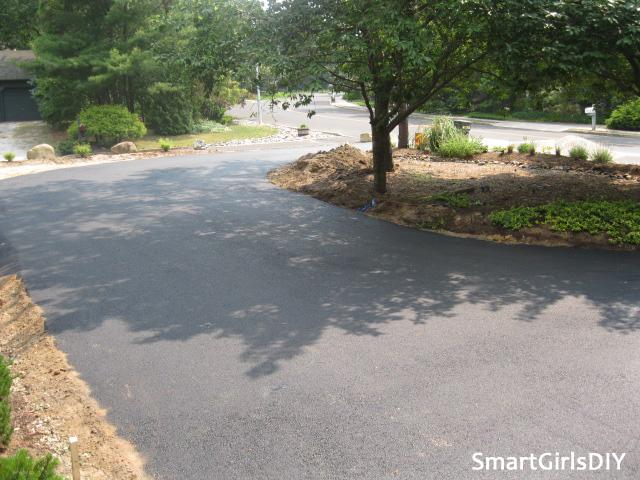 Asphalt driveway paving project
