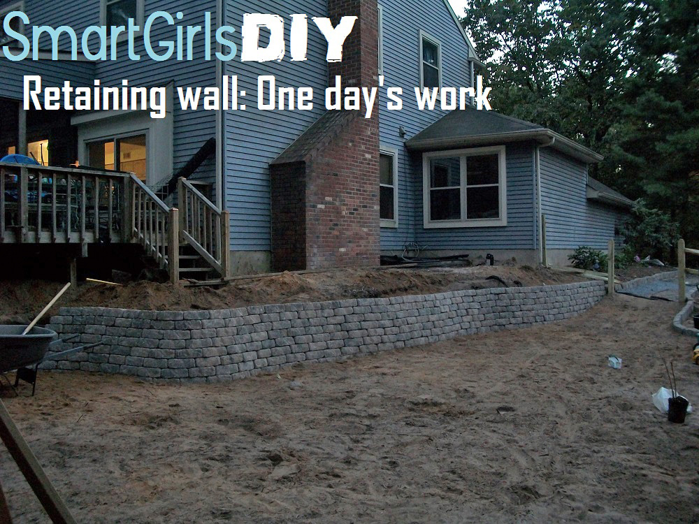 Smart Girls DIY - One Day Retaining Wall