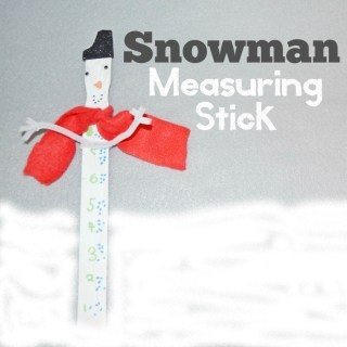 Snowman Measuring Stick Craft