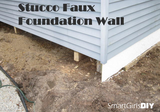 Stucco Faux Foundation Wall