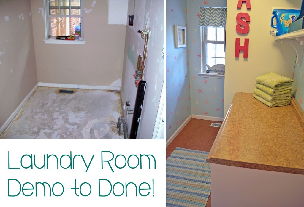 Smart Girls DIY - Launry room makeover - From demo to done!