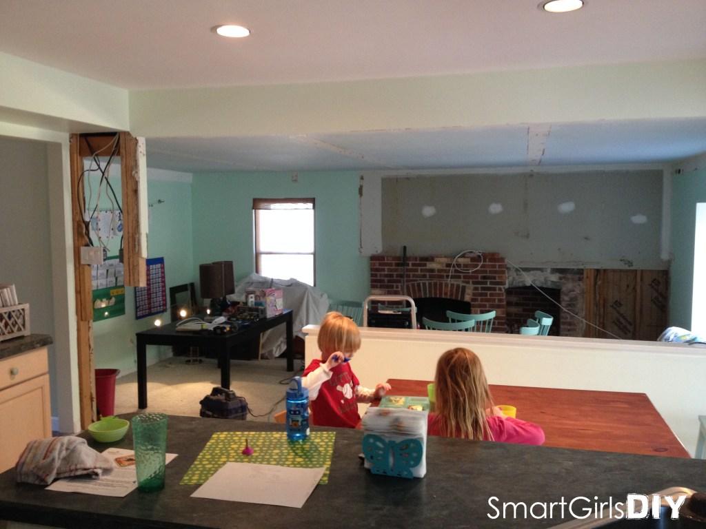 My kids unfazed by demolition