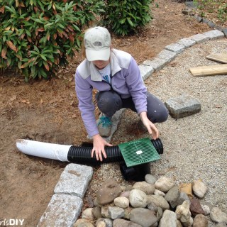 Installing a Catch Basin and Dry Well System