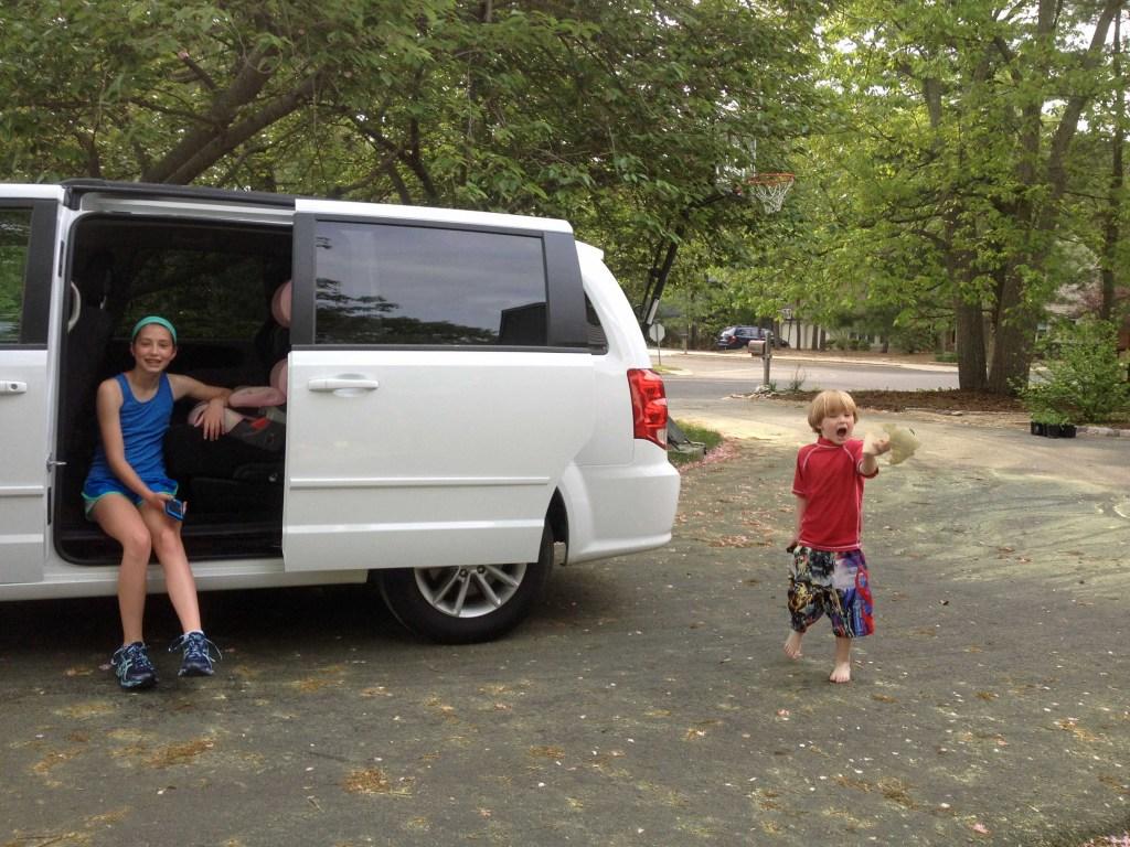 Rental minivan