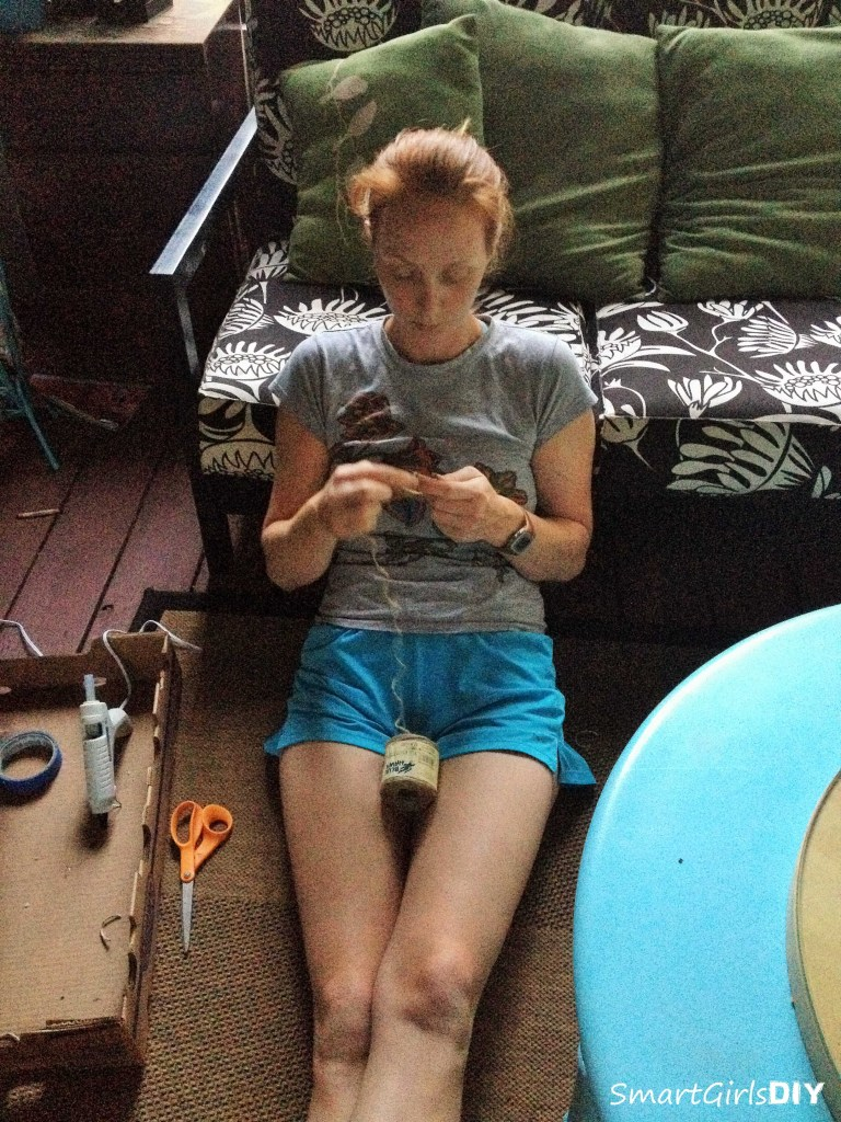 crafting on the back porch - making ukelele holders