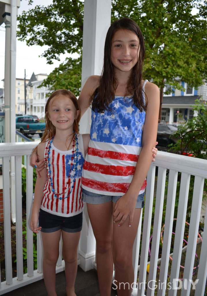 How to paint American flag tank tops and tshirts