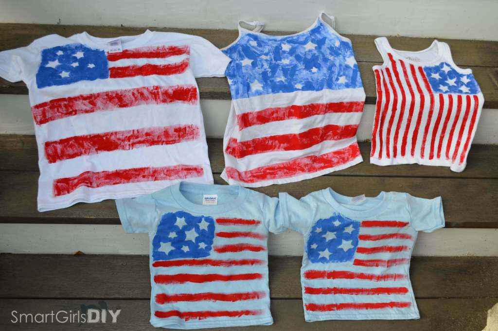Patriotic DIY painted tshirts