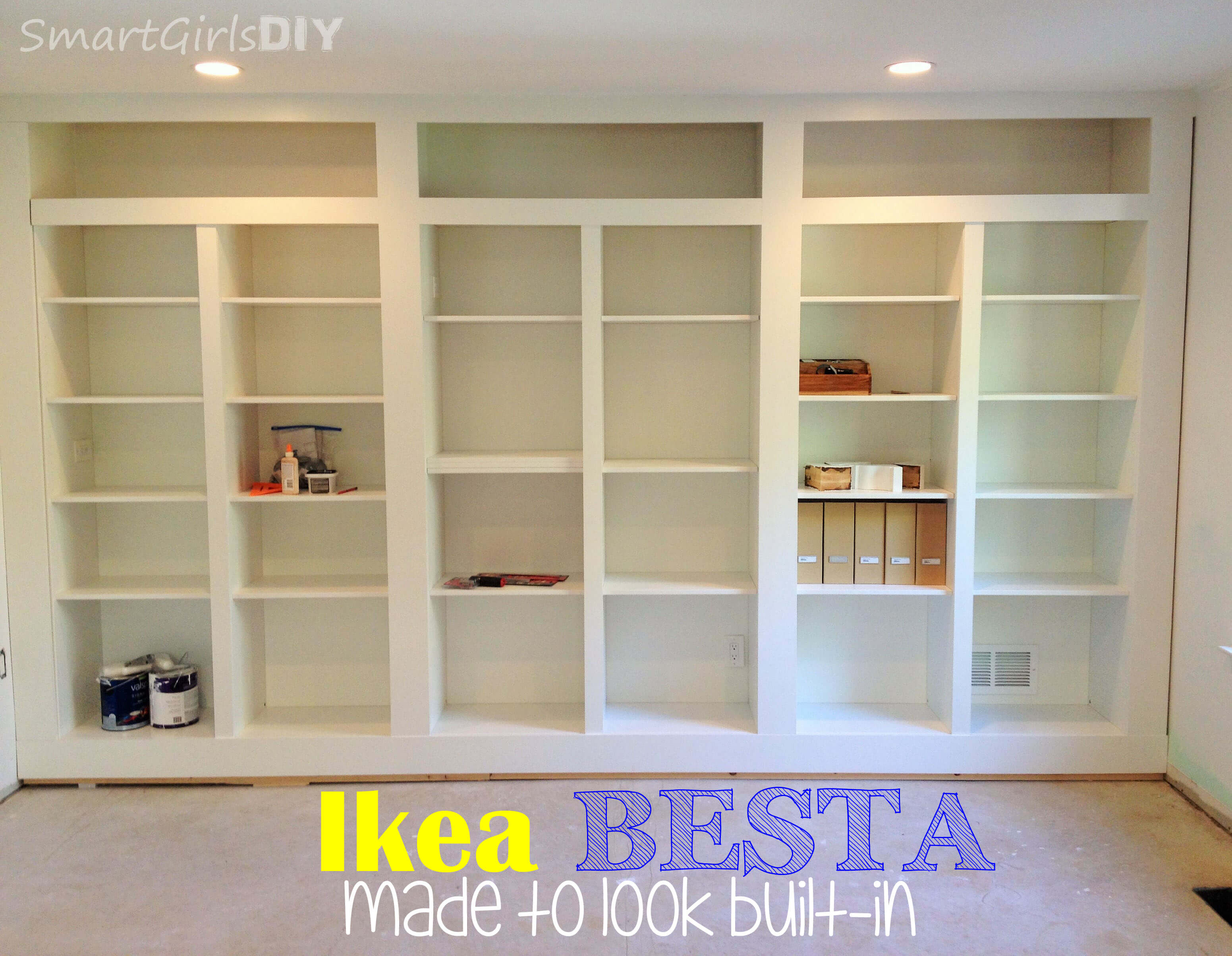 ikea besta made to look built in - Ikea Built In Bookshelves