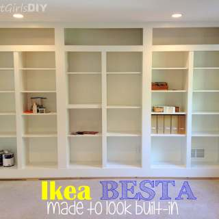 DIY Built-in Bookshelves Using Ikea BESTA (Family Room 8)
