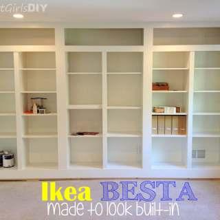 DIY Built-in Bookshelves Using Ikea BESTA (Family Room 8)