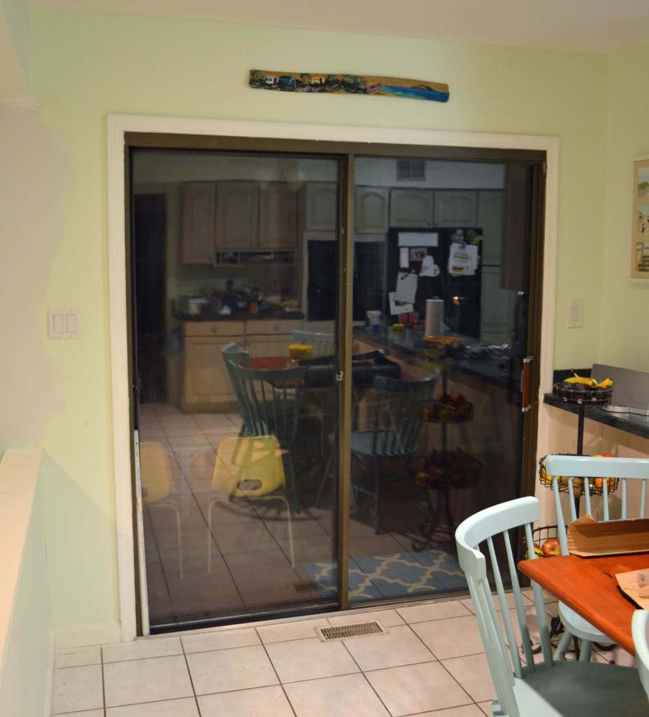 Ugly old sliding patio doors