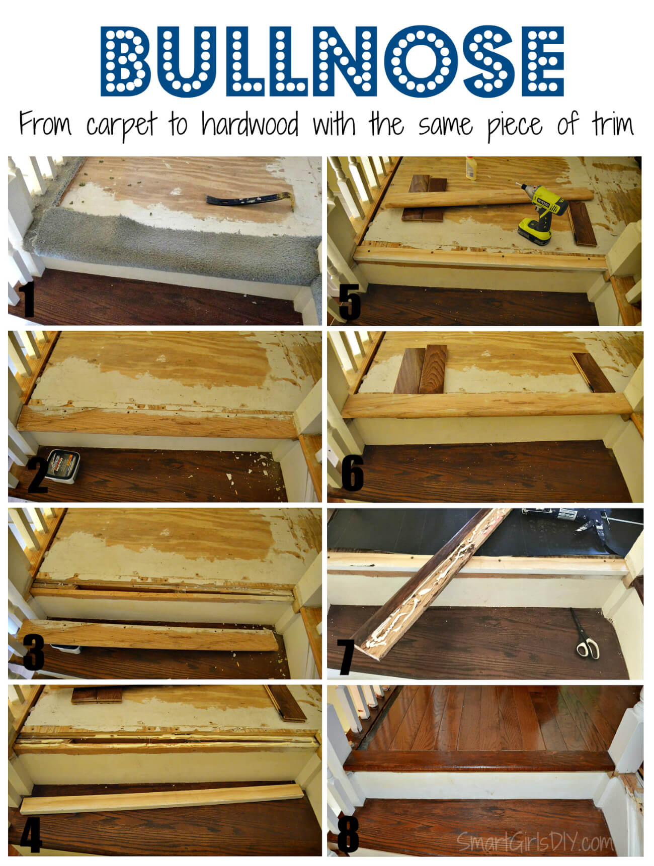 Carpet To Hardwood Stairs Upstairs Hallway 1 Installing Hardwood Floors