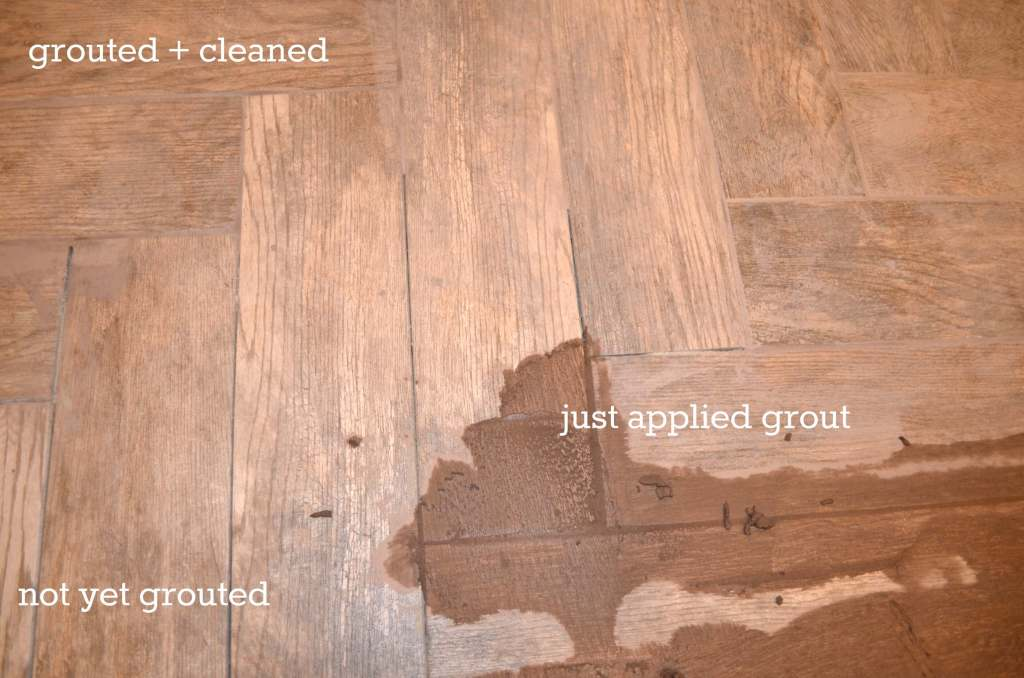 DIY grouting process