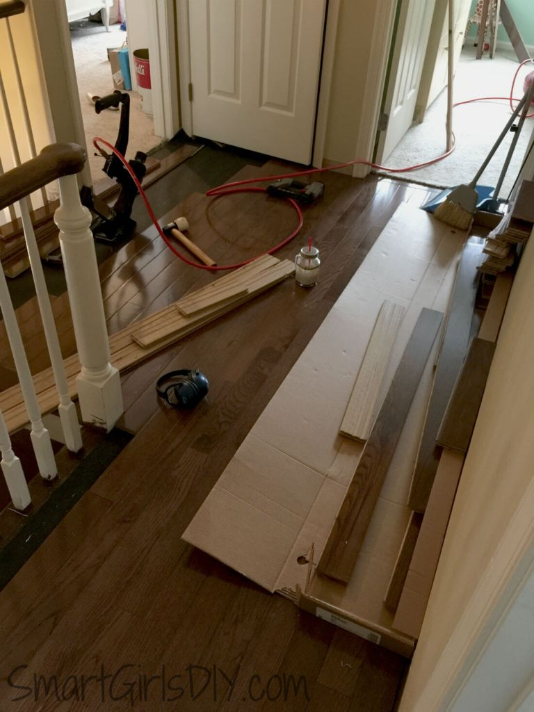 How to install a wood floor yourself 28 images how for Hardwood floors upstairs