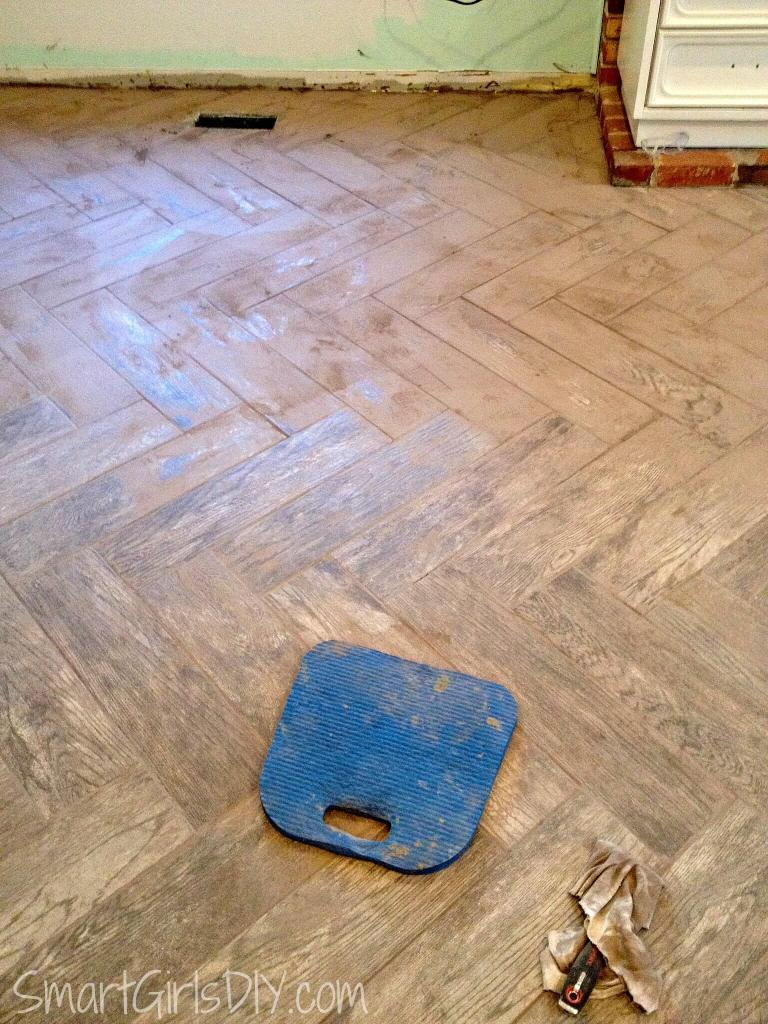 Labor of love -- cleaning grout off tile