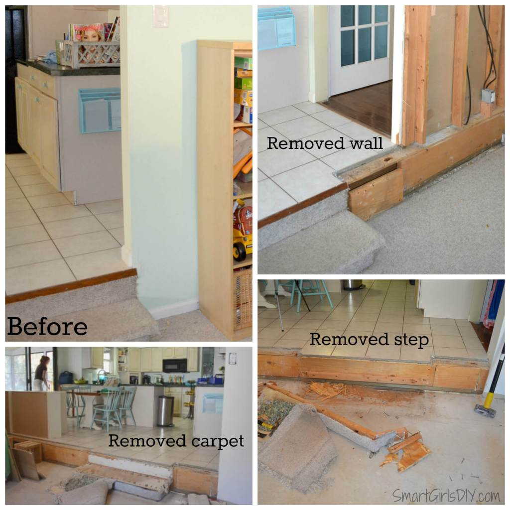 Removing family room step down