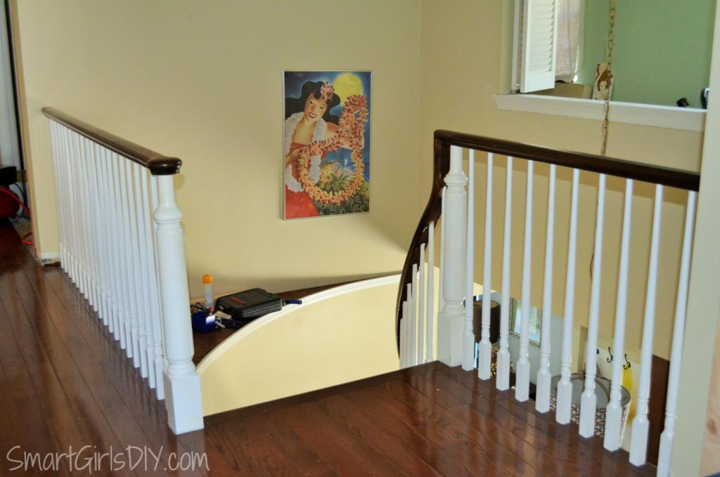 How to install spindles with Bruce saddle oak hardwood flooring