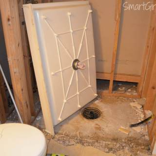 Guest Bathroom 3: Shower Demo a One-Woman Job