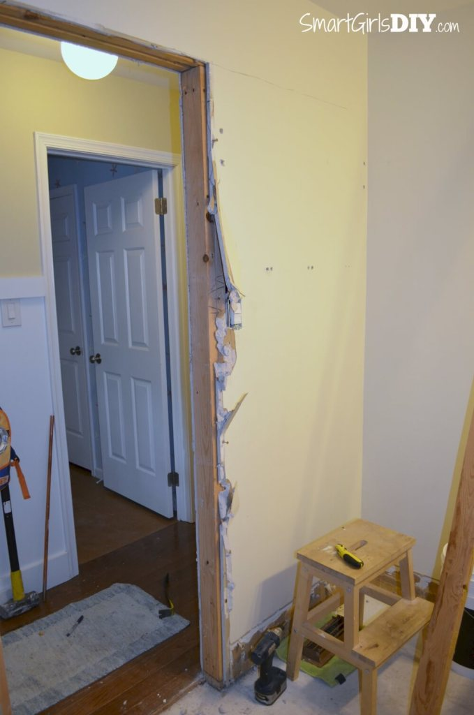 Before installing a pocket door you must open the wall to make room for the pocket