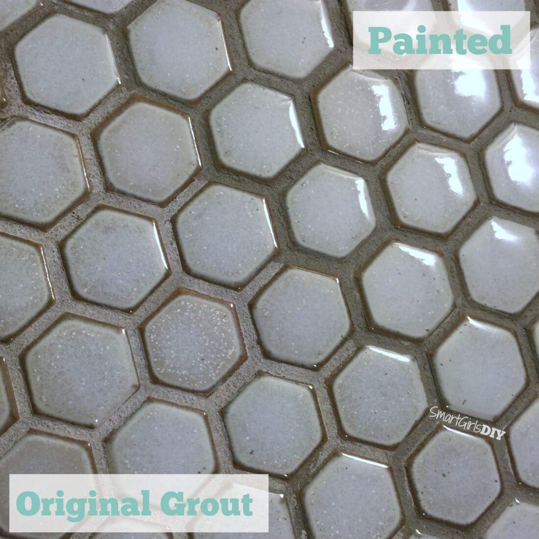 Well known Guest Bathroom 7: DIY Hex Tile Floor DO34