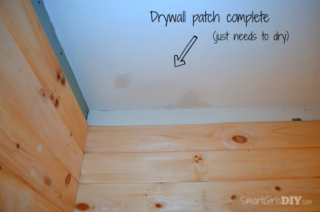 Complete drywall patch in ceiling