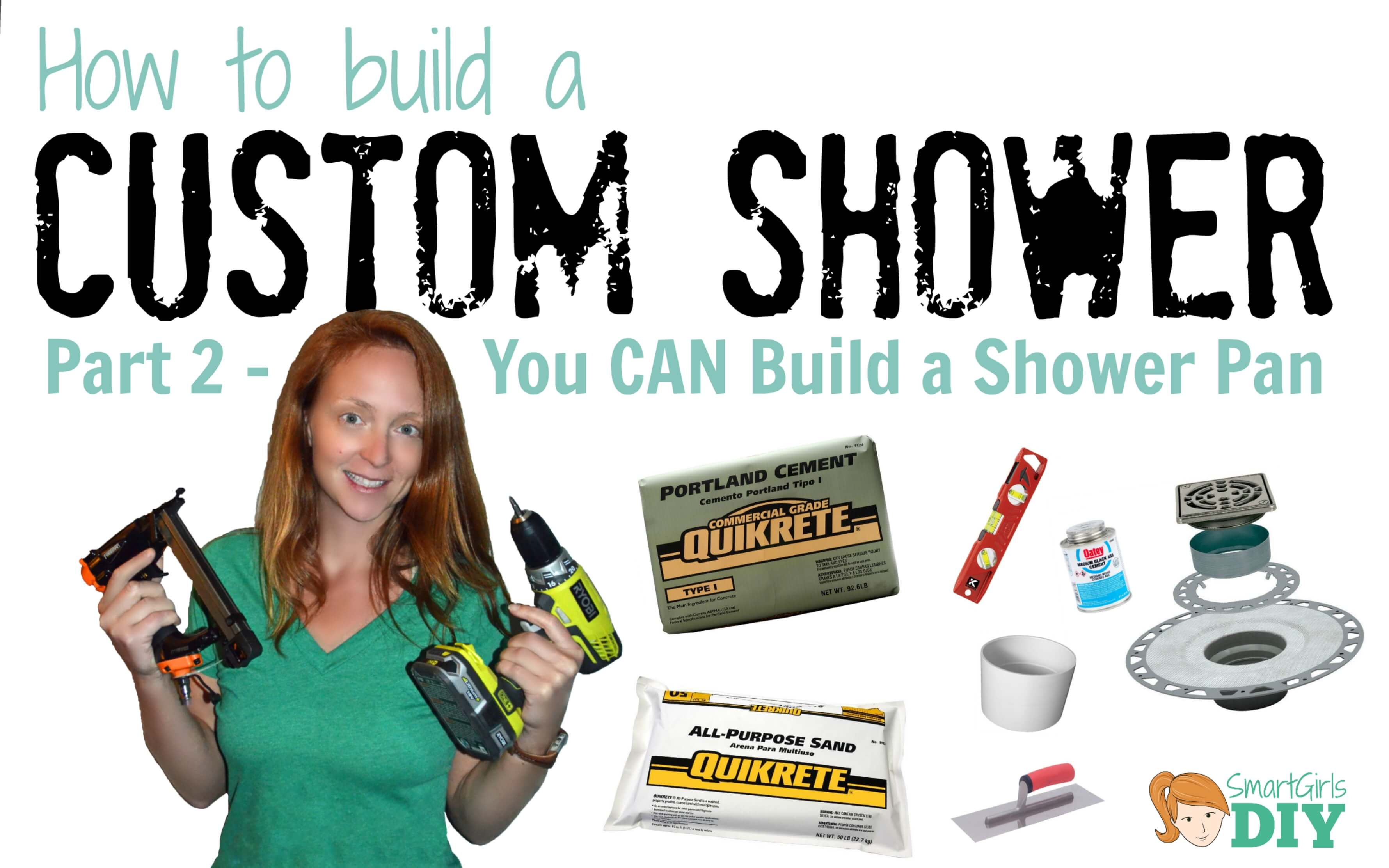 diy custom shower 2 how to build a shower pan