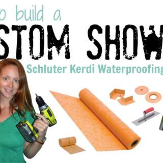 How to build a custom shower with schluter kerdi waterproofing system