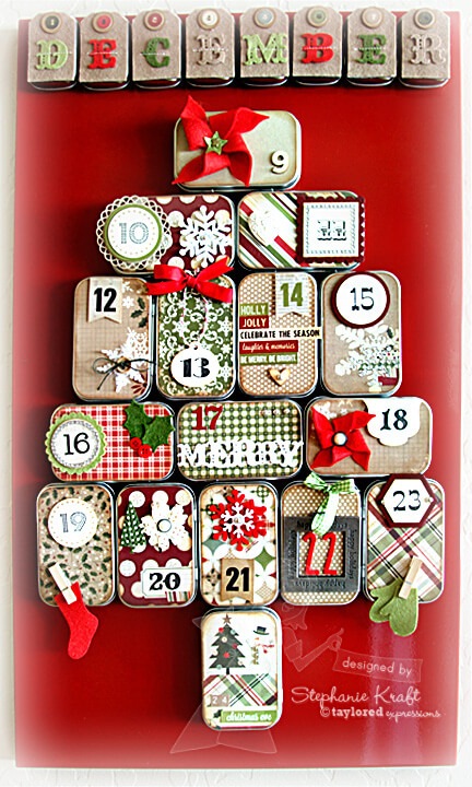 Altoid container advent calendar
