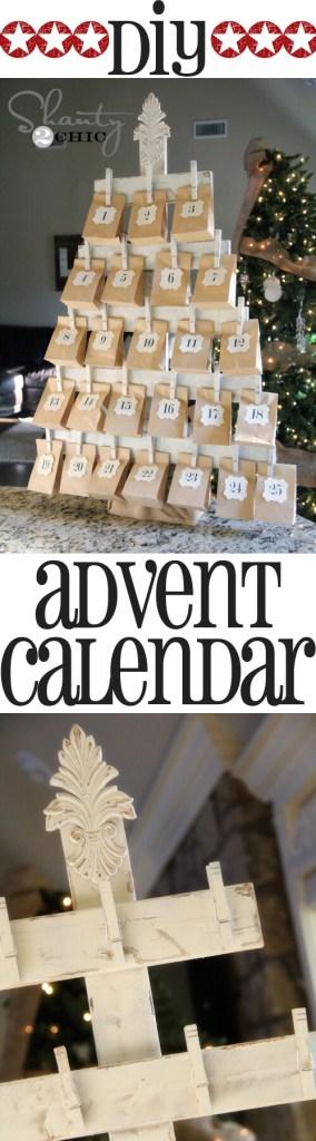 DIY tree advent calendar