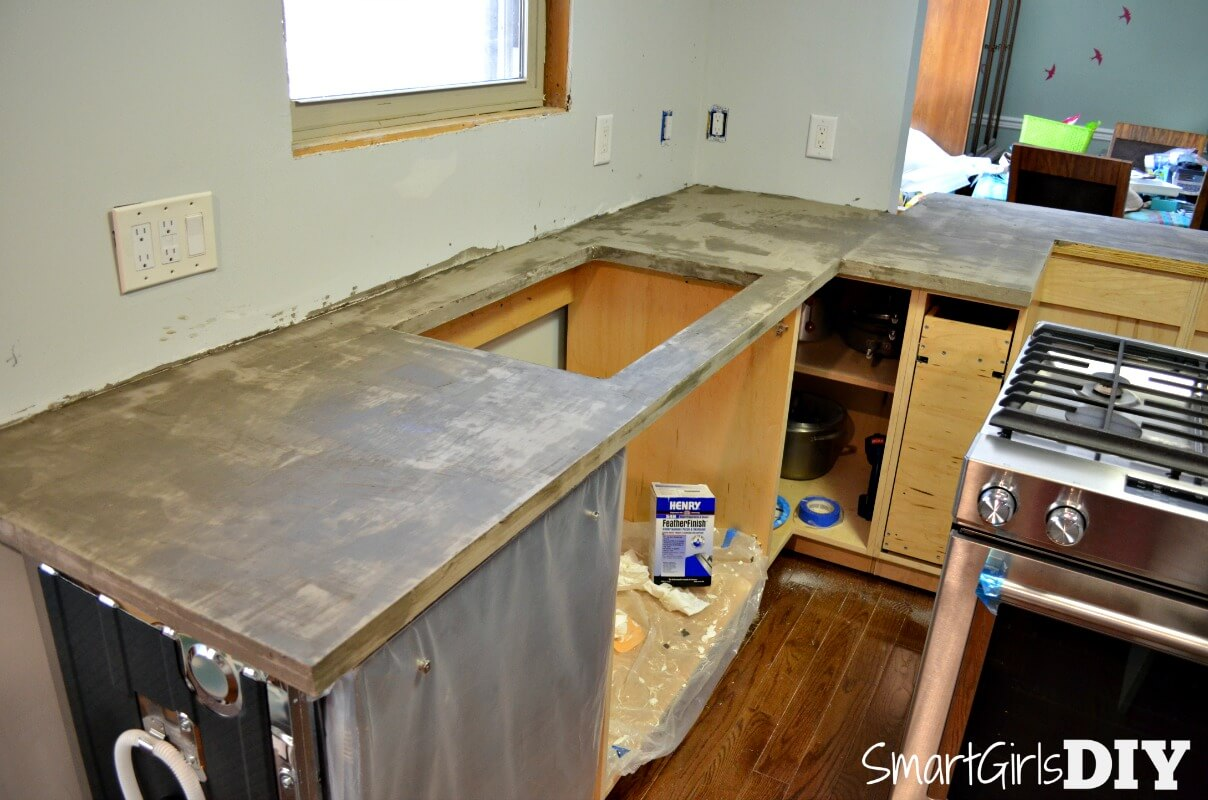Concrete countertops when will you ever be finished