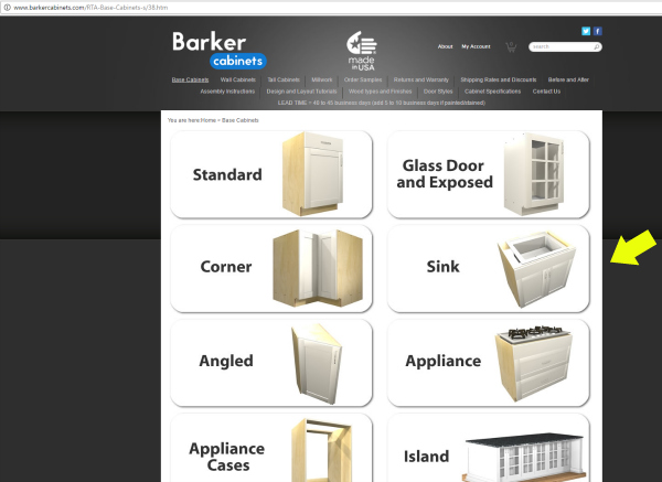 ... Barker Cabinets Base Cabinet Selection And Ordering Process