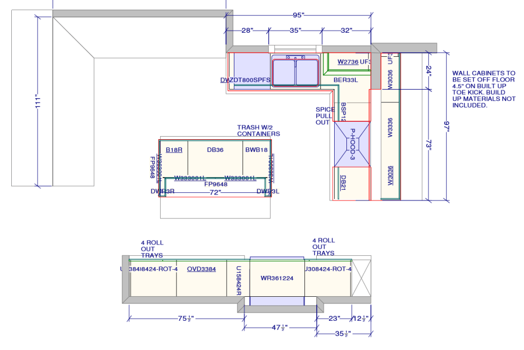 Designing kitchen layout and selecting cabinets for Best kitchen cabinet layout