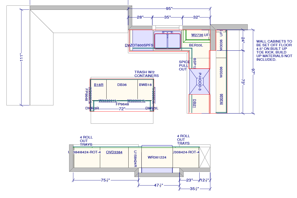 ... Cliq Studios Free Kitchen Cabinet Layout 2nd Draft ...