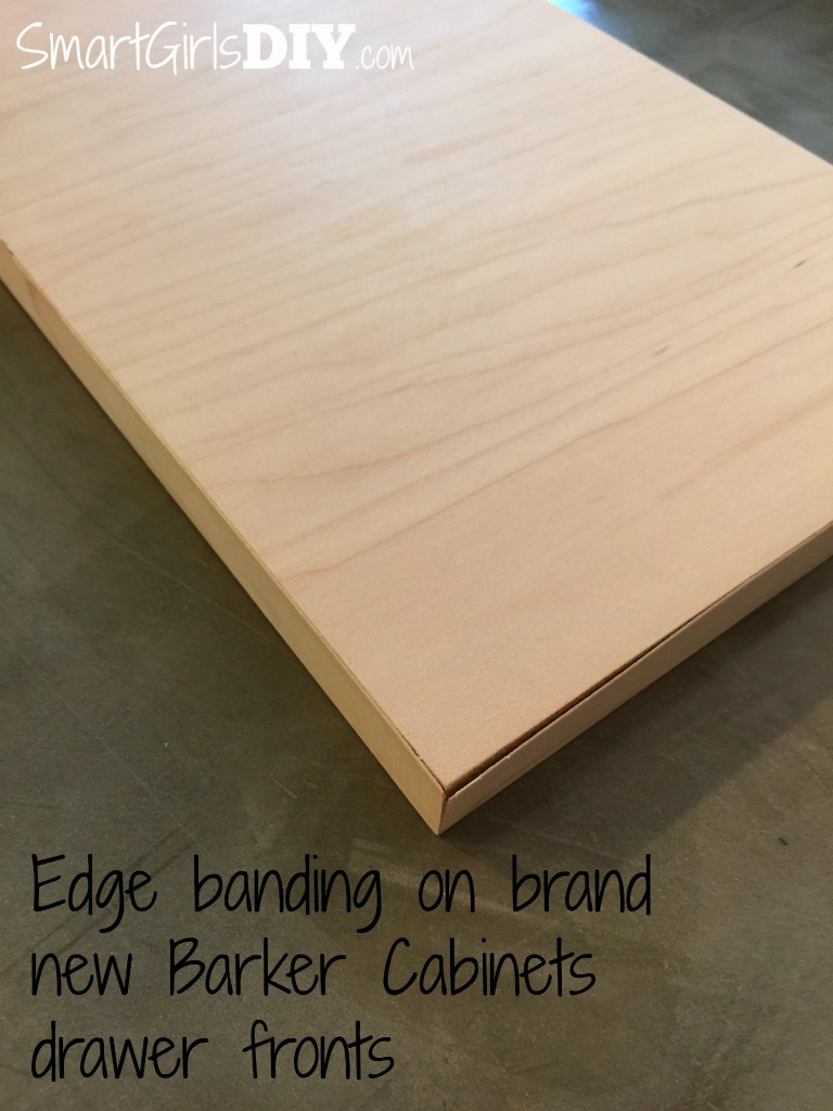 ... Edge Banding On Barker Cabinets Drawer Fronts