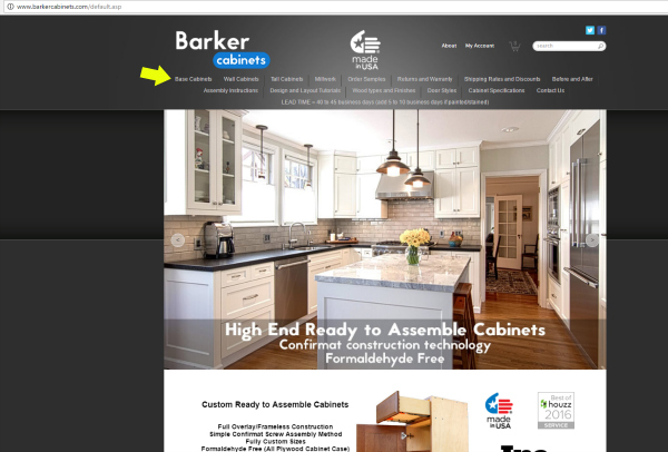 How To Order Barker Cabinets Start With Base