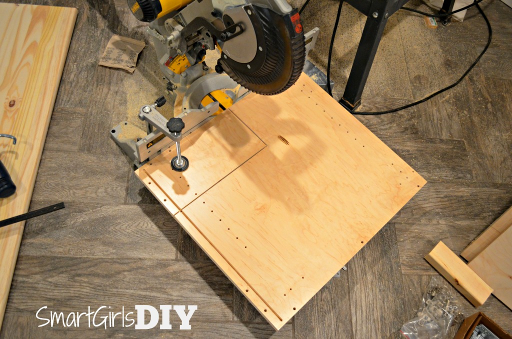 two cut out both areas i used a miter saw in my family room doh to cut nice straight lines - Cutting Kitchen Cabinets