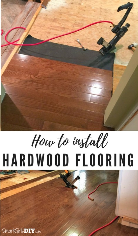 How to install hardwood flooring in a kitchen - Smart Girls DIY