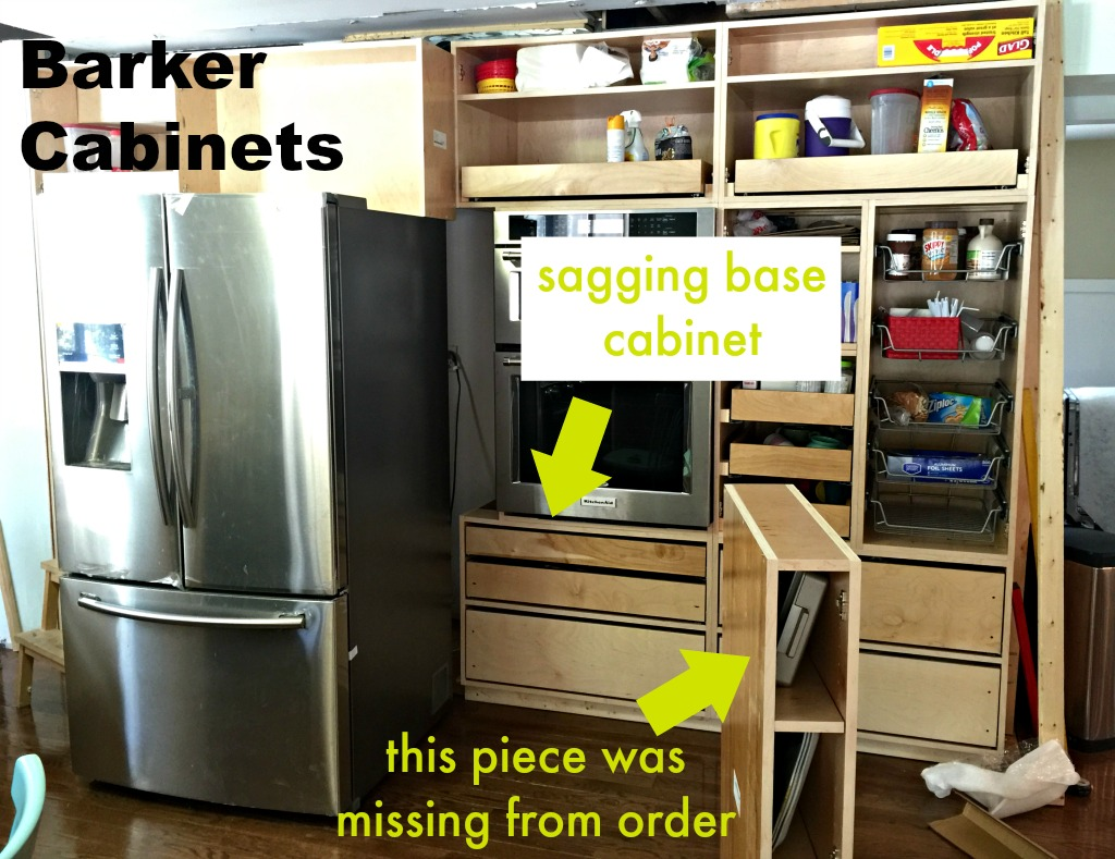 Issues with Barker Cabinets