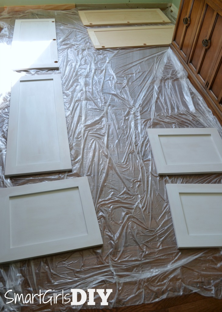 Painting kitchen cabinet doors - Barker Cabinets