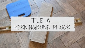How to tile a herringbone floor