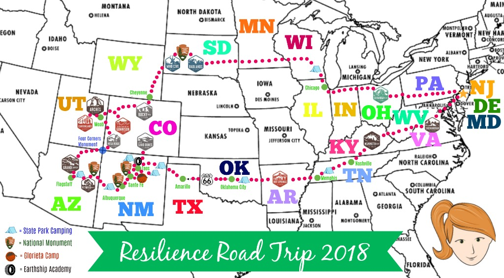 Resilience Road Trip 2018 because life is short